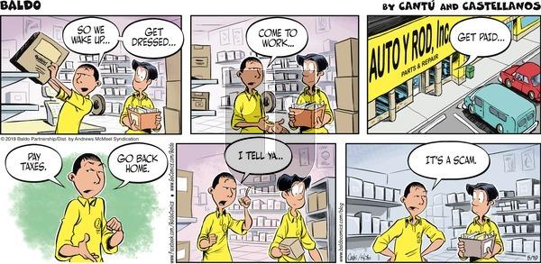 Baldo on Sunday May 19, 2019 Comic Strip