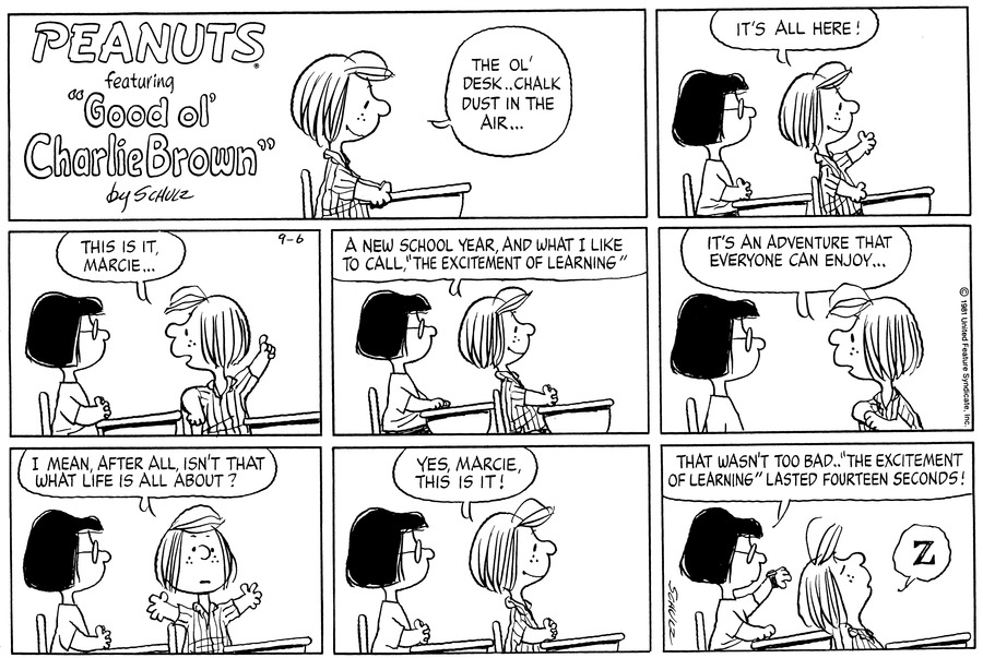 Peanuts Comic Strip for September 06, 1981
