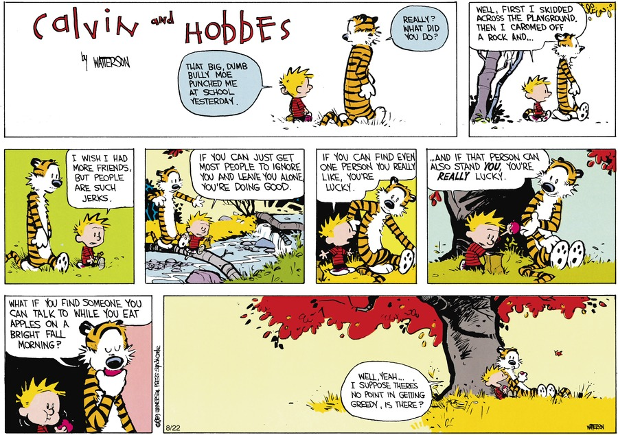 Calvin and Hobbes Comic Strip for October 08, 1989