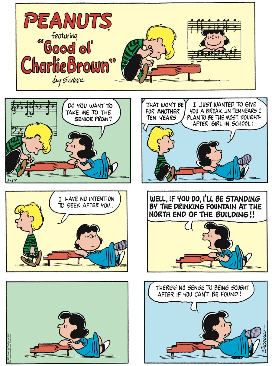Peanuts by Charles Schulz on Sun, 19 Jan 2020