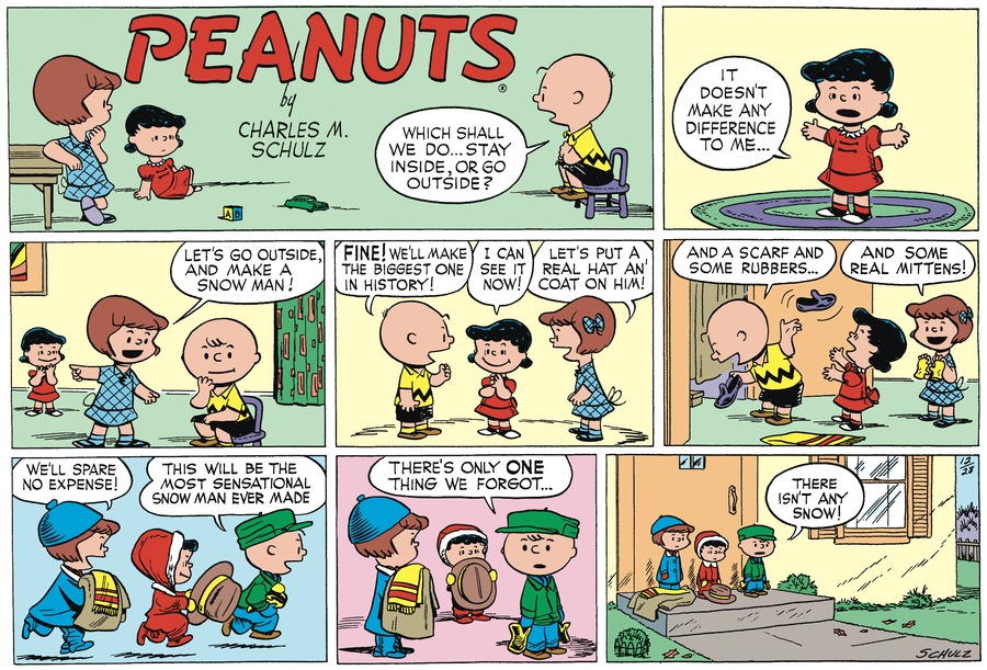 Peanuts Begins Comic Strip for December 26, 2020