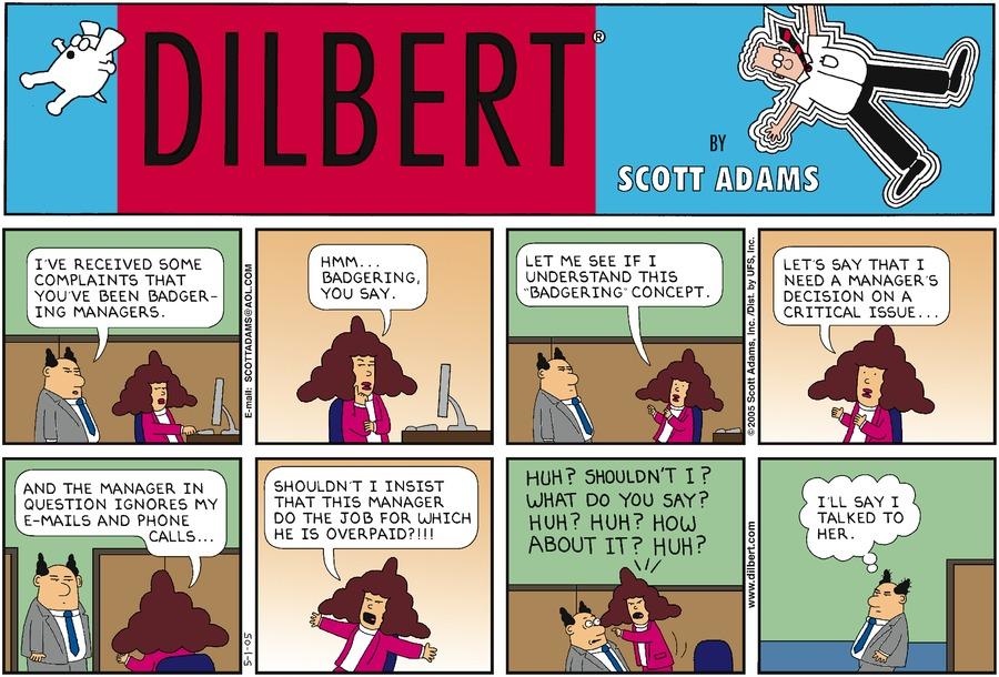 Дилберт 1 мая 2005 г.