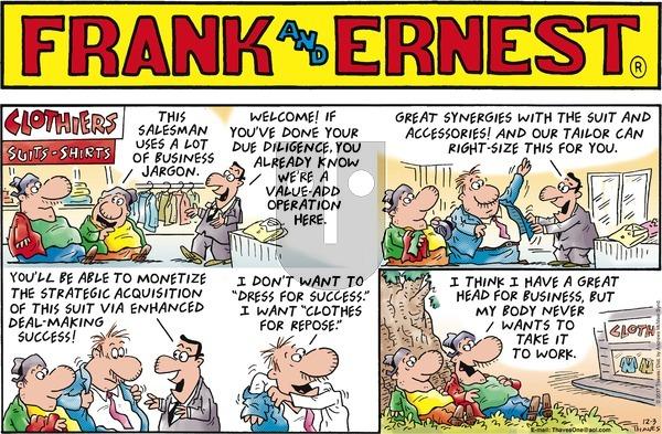 Frank and Ernest on Sunday December 3, 2017 Comic Strip