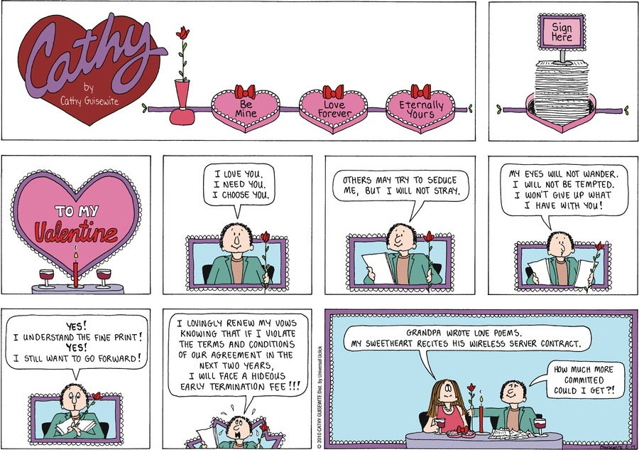 Cathy Classics by Cathy Guisewite on Sun, 14 Feb 2021