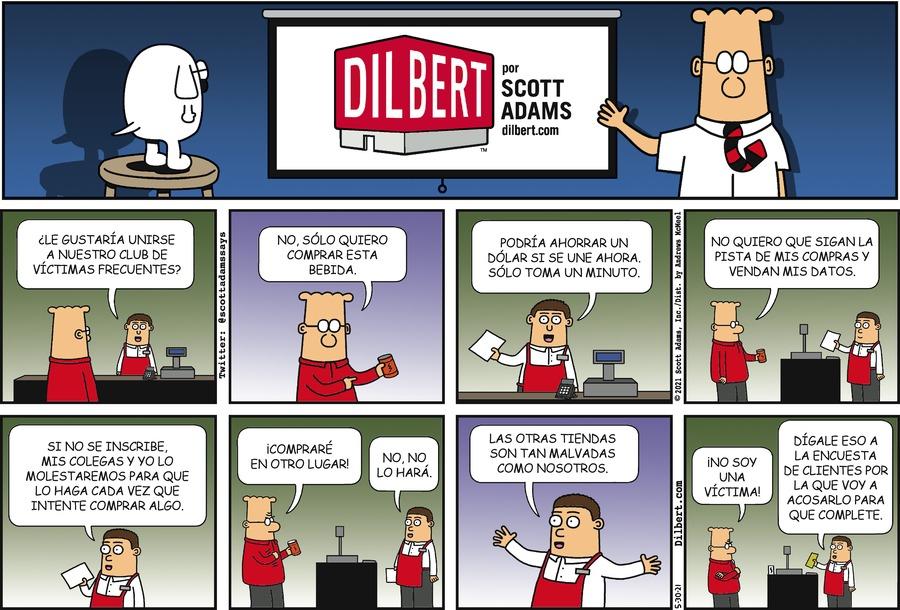 Dilbert en Español Comic Strip for May 30, 2021