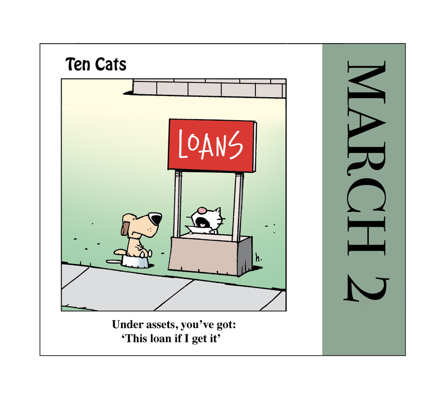 Ten Cats Comic Strip for March 02, 2021