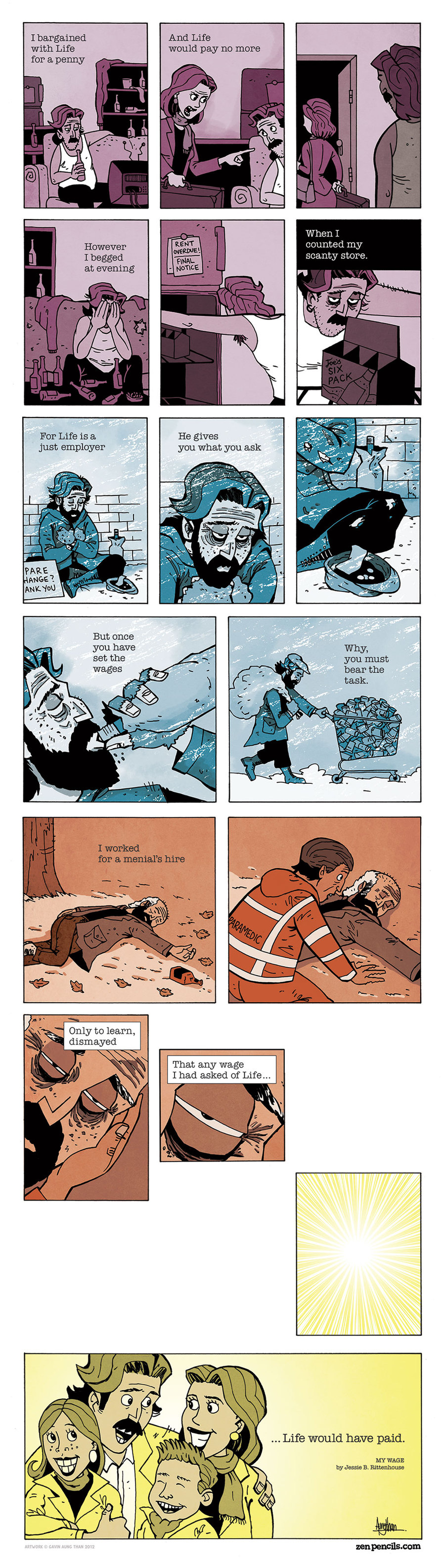 Zen Pencils for Dec 16, 2013 Comic Strip