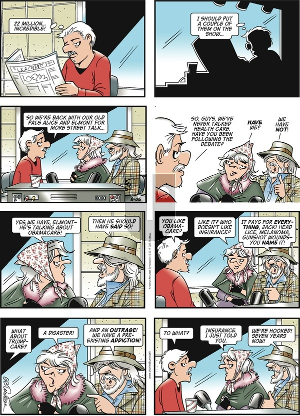 Doonesbury on Sunday August 6, 2017 Comic Strip