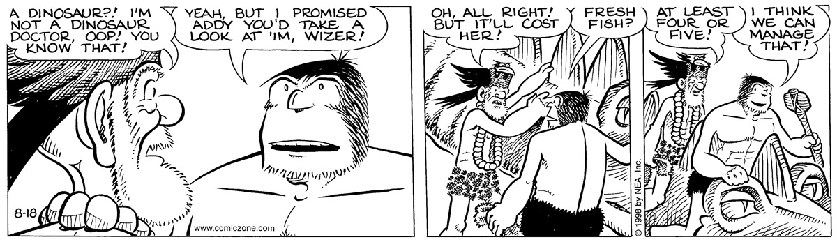 Alley Oop for Aug 18, 1998 Comic Strip