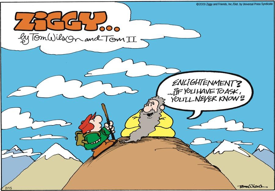 Ziggy for Feb 15, 2009 Comic Strip