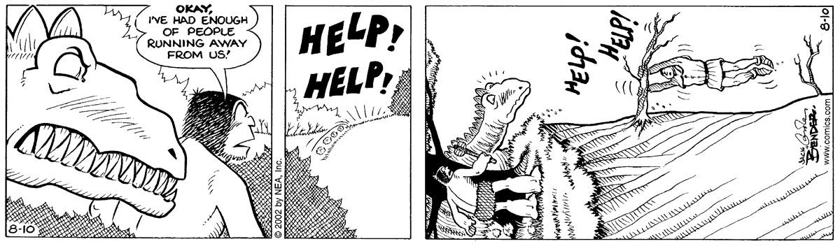 """Okay, I've had enough of people running away from us!"" ""Help! Help!"" ""Help Help!"""