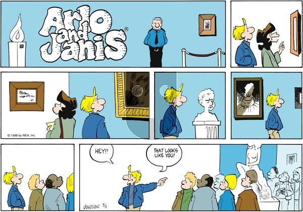 Arlo and Janis on Sunday March 8, 1998 Comic Strip