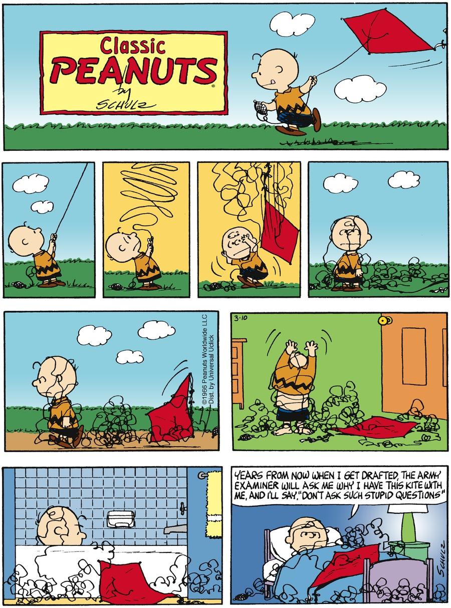 Peanuts Comic Strip for March 10, 2013
