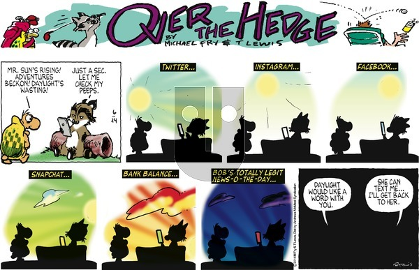 Over the Hedge on Sunday June 24, 2018 Comic Strip