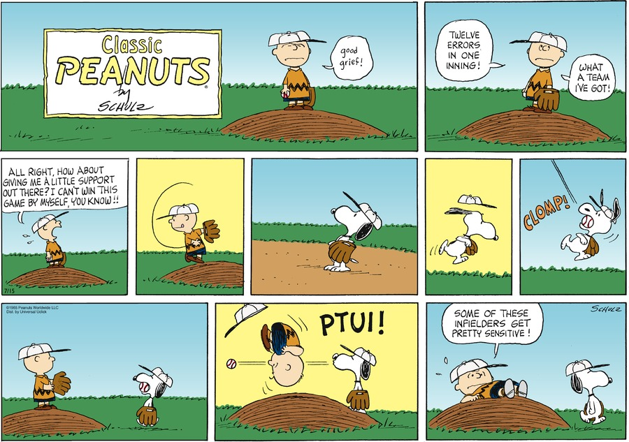 Peanuts Comic Strip for July 15, 2012