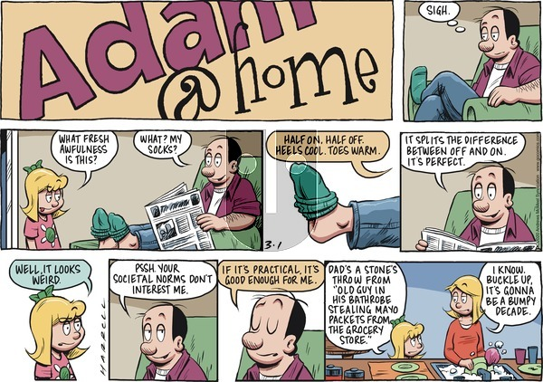 Adam@Home on Sunday March 1, 2020 Comic Strip