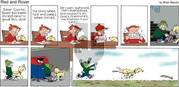 Red and Rover on Sunday December 8, 2019 Comic Strip