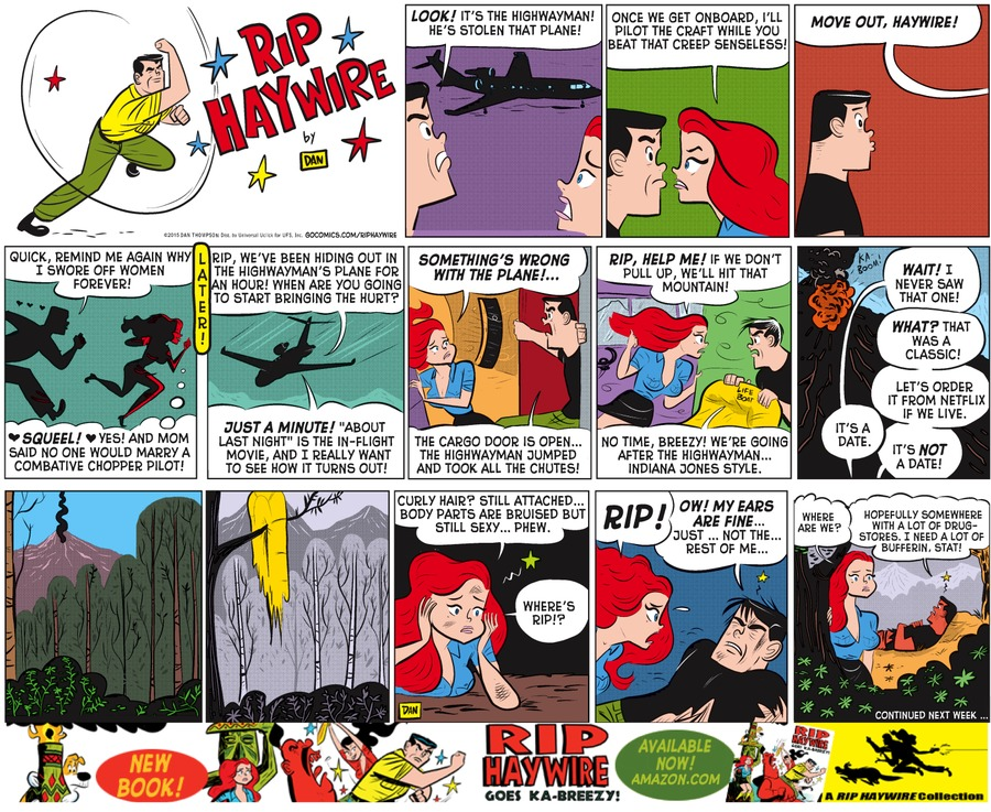 Rip Haywire Comic Strip for April 19, 2015