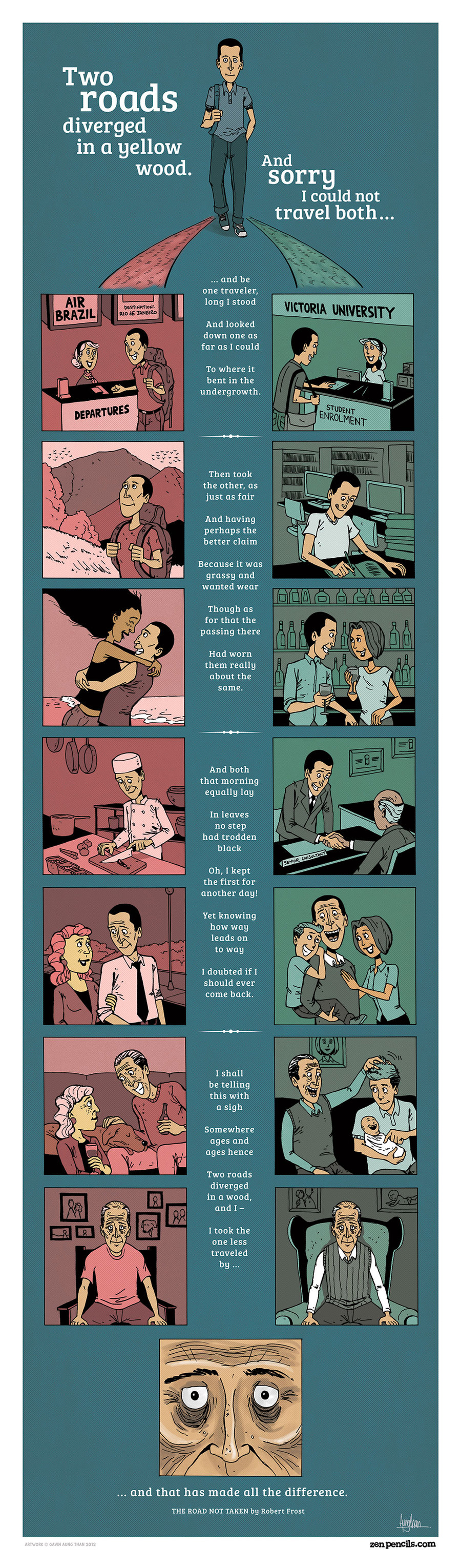 Zen Pencils for Oct 21, 2013 Comic Strip