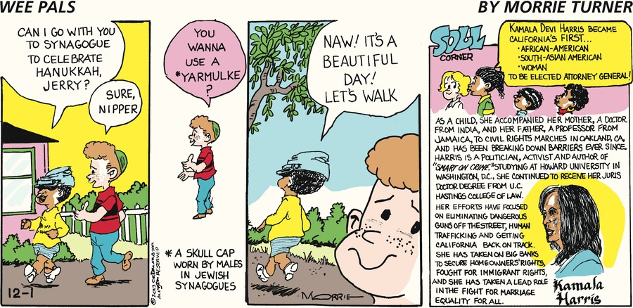 Wee Pals for Dec 1, 2013 Comic Strip