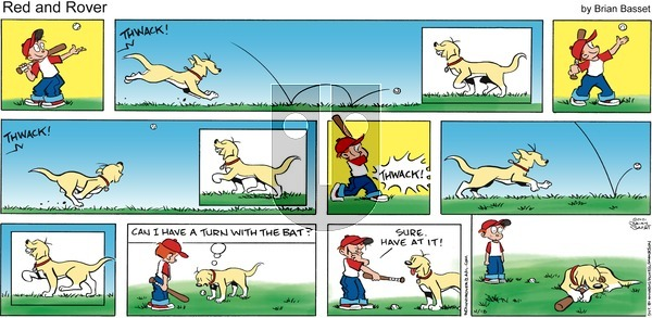 Red and Rover on Sunday April 18, 2021 Comic Strip
