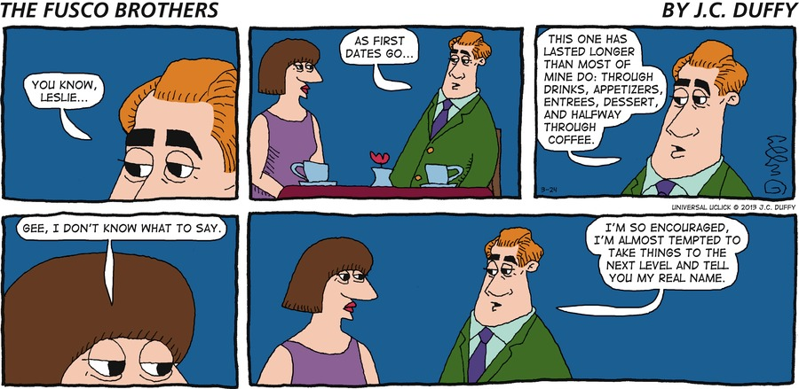 The Fusco Brothers for Mar 24, 2013 Comic Strip