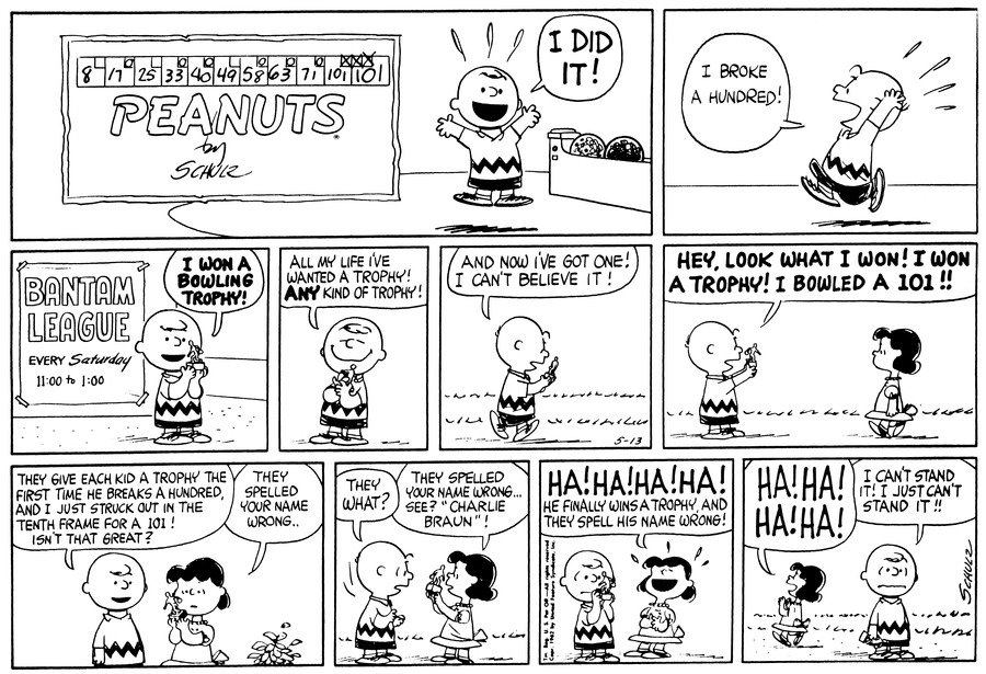 Peanuts for May 13, 1962 Comic Strip