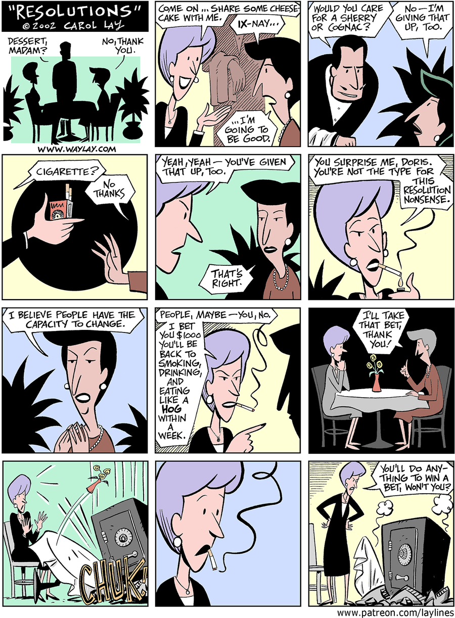 Lay Lines Comic Strip for January 09, 2016