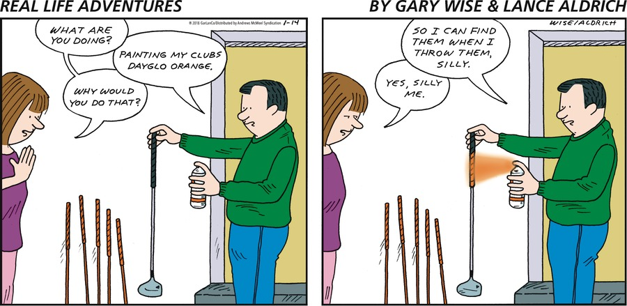 Real Life Adventures for Jan 14, 2018 Comic Strip