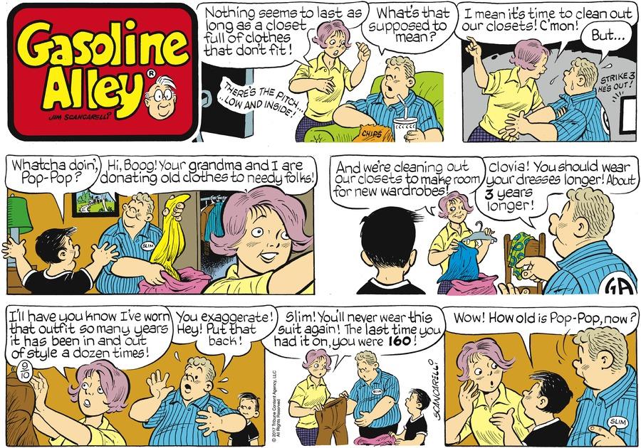 Gasoline Alley Comic Strip for September 10, 2017