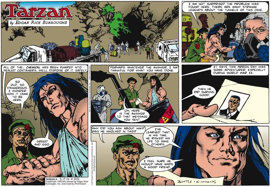 Tarzan Comic Strip for May 19, 2002