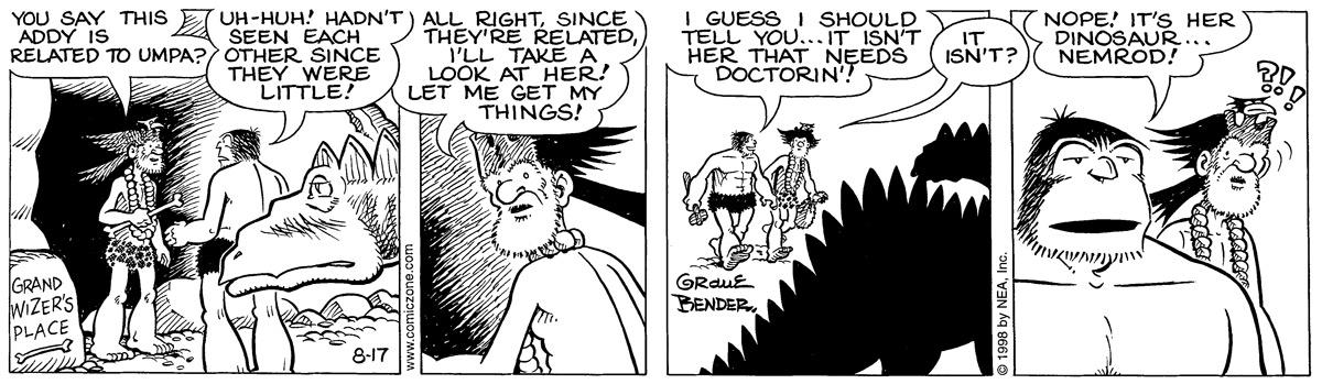 Alley Oop for August 17, 1998 Comic Strip