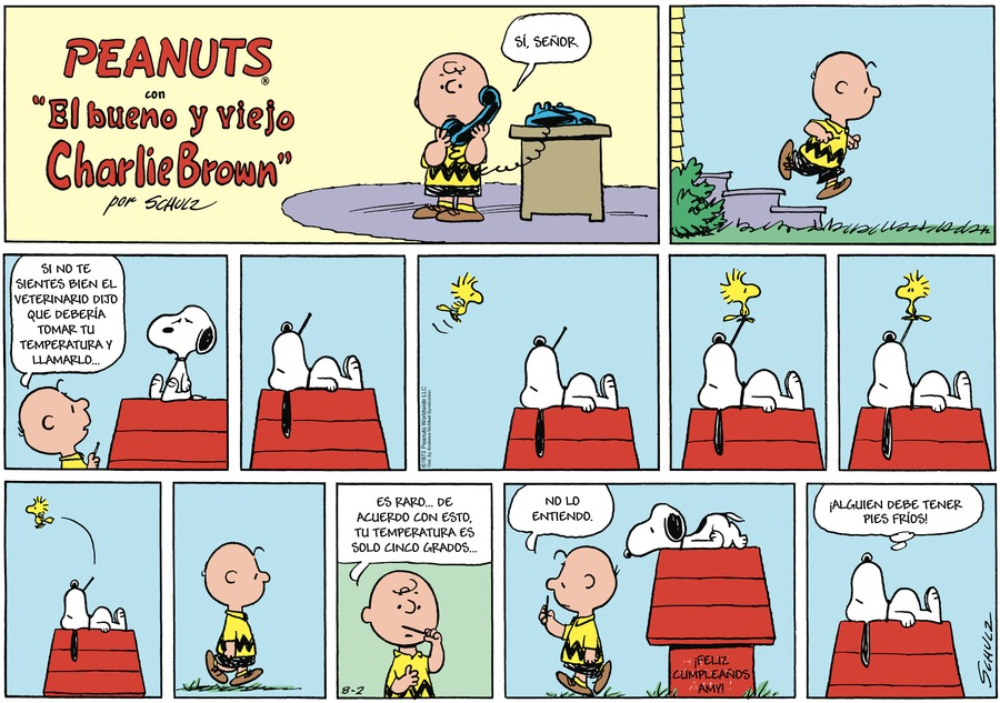 Snoopy en Español Comic Strip for August 02, 2020