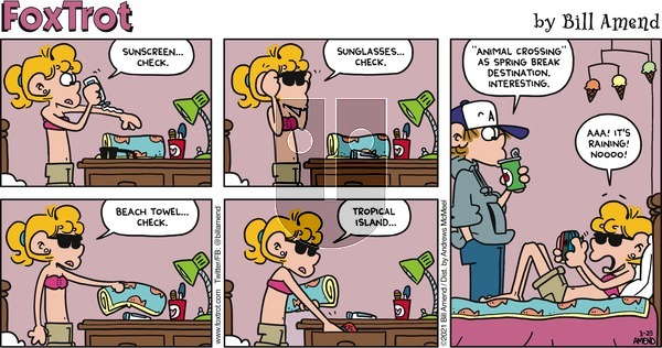 FoxTrot on Sunday March 28, 2021 Comic Strip