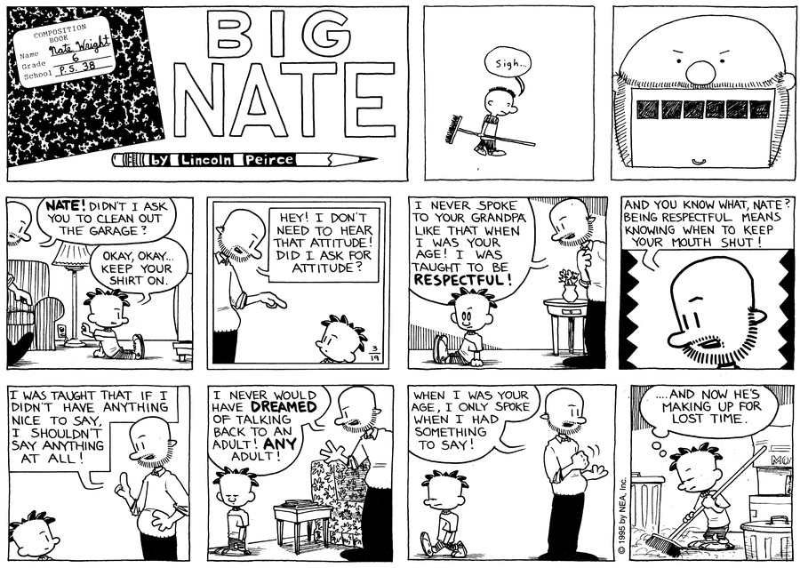 Big Nate: First Class Comic Strip for March 29, 2020