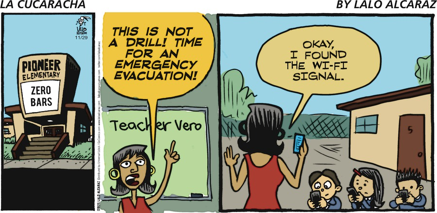 La Cucaracha for Nov 29, 2015 Comic Strip