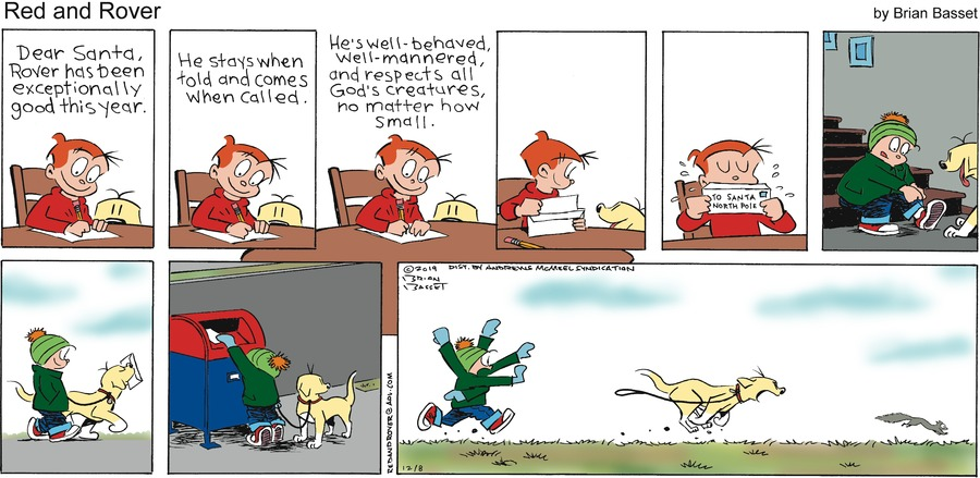 Red and Rover Comic Strip for December 08, 2019