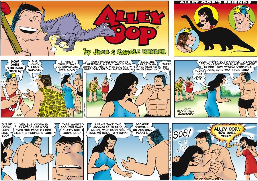 Alley Oop for Jan 1, 2012 Comic Strip