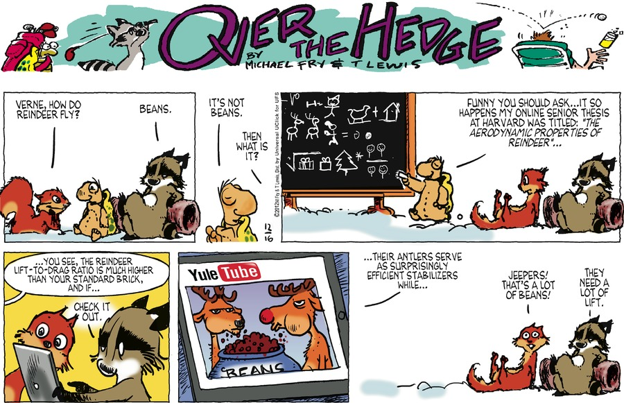 Over the Hedge for Dec 16, 2012 Comic Strip