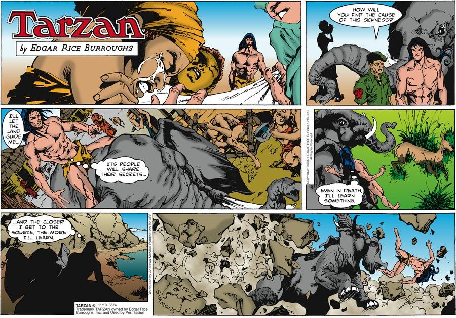 Tarzan Comic Strip for November 10, 2019