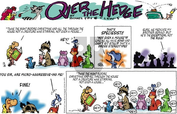 Over the Hedge on Sunday December 18, 2016 Comic Strip