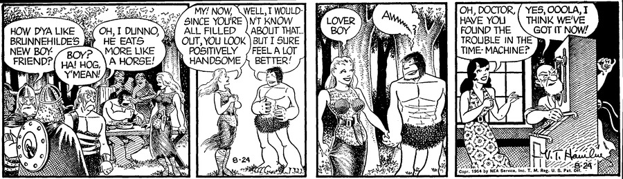 Alley Oop Comic Strip for August 24, 1954