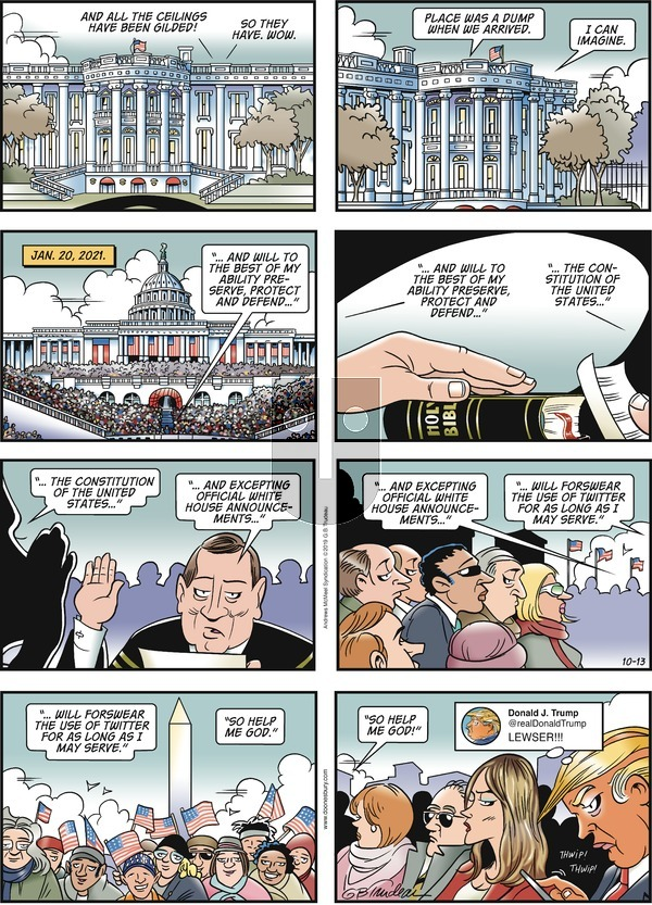 Doonesbury - Sunday October 13, 2019 Comic Strip