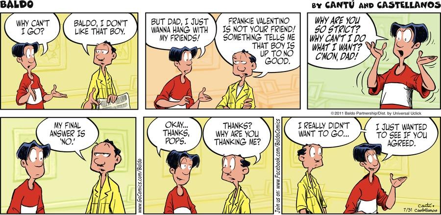 Baldo for Jul 31, 2011 Comic Strip