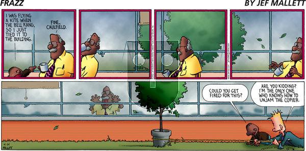 Frazz - Sunday April 14, 2002 Comic Strip