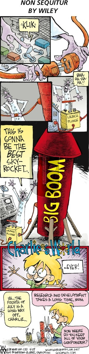 Non Sequitur on Sunday April 29, 2018 Comic Strip