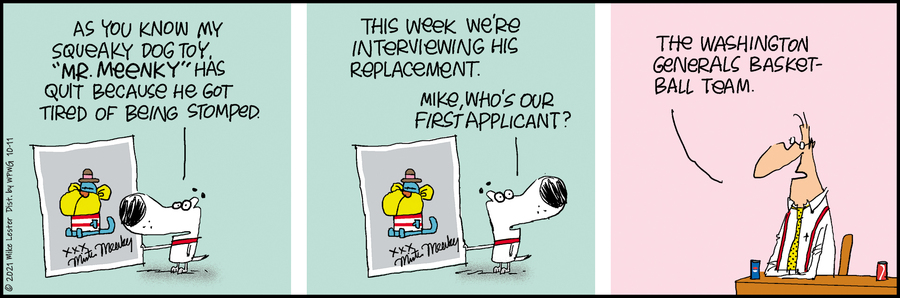 Mike du Jour by Mike Lester on Mon, 11 Oct 2021