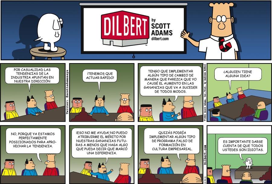 Dilbert en Español by Scott Adams on Sun, 14 Feb 2021
