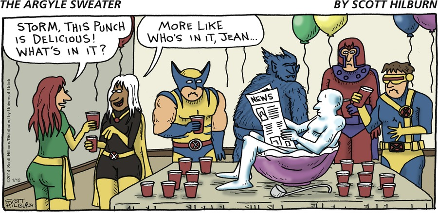 The Argyle Sweater for Jan 12, 2014 Comic Strip