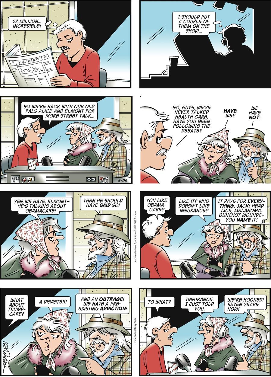 Doonesbury for Aug 6, 2017 Comic Strip